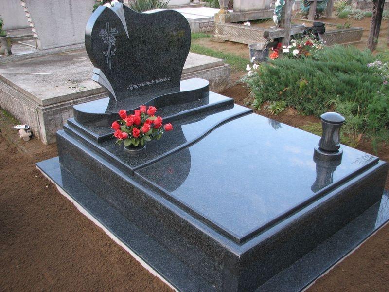 Nero Impala dupla gránit síremlék, osztott