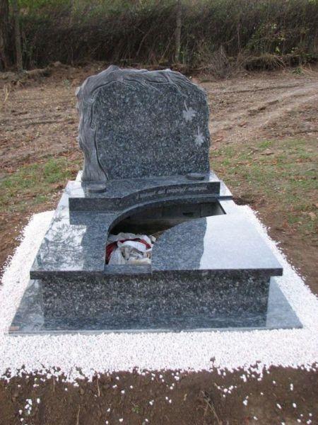 Labrador Blue Pearl gránit dupla sírkő