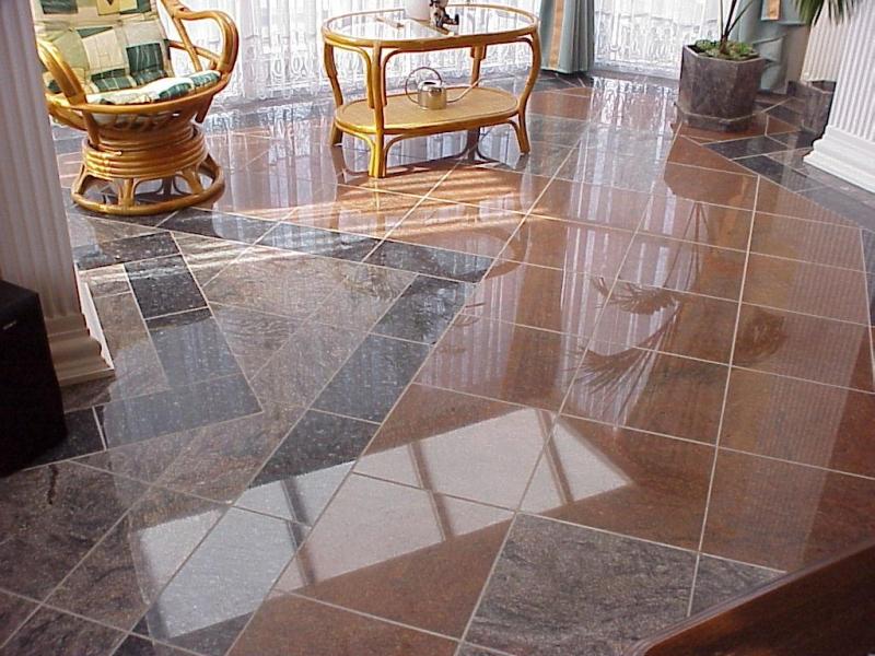 Kinava Classico - Multicolor - Labrador Blue Pearl gránit anyagokból készített, a helyiség adottságaihoz tervezett exluzív padló burkolat