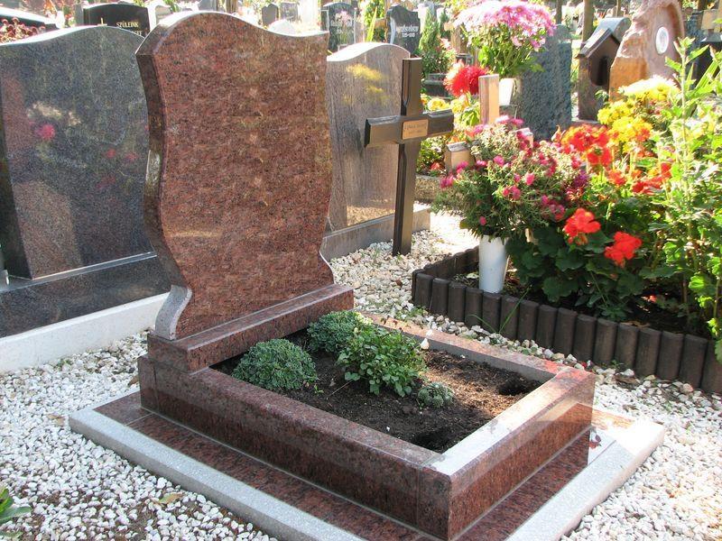 Rosso Vanga nyitott gránit urna sírkő