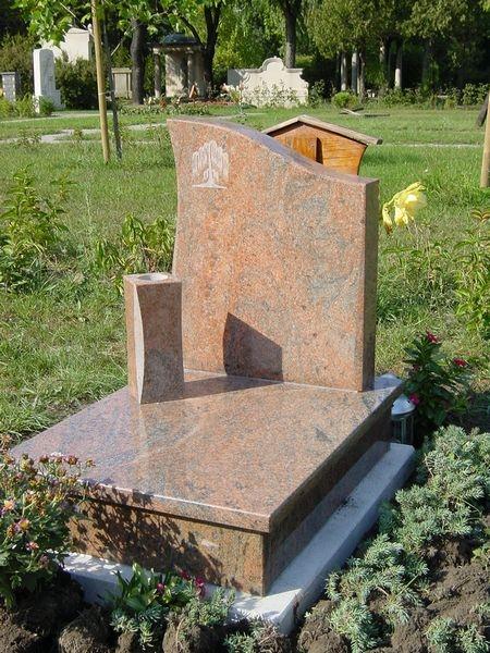 Multicolor gránit urna síremlék, hagyományos vázával