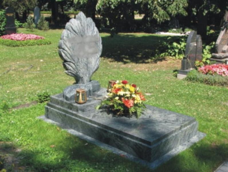 Verde San Fransisco szimpla gránit sírkő,