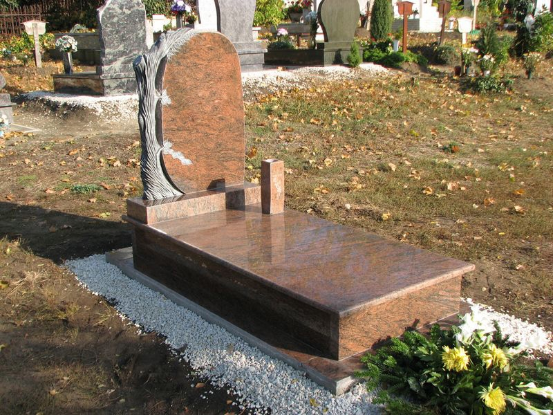 Multicolor szimpla gránit síremlék