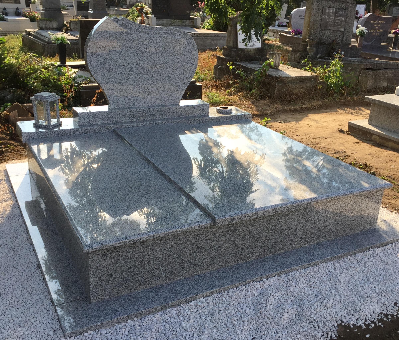 Akciós dupla gránit sírkő